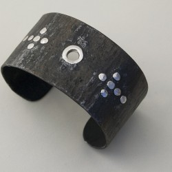 Custom Steel Cuff with Sterling Rivets thumbnail