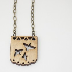 Maple Birds Necklace thumbnail