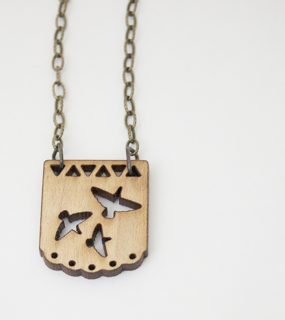 Maple Birds Necklace